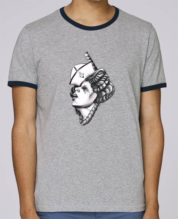 T-Shirt Ringer Contrasté Homme Stanley Holds Femme capitaine pour femme par david