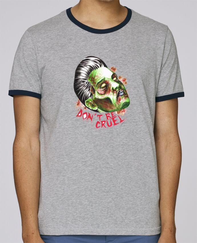 T-Shirt Ringer Contrasté Homme Stanley Holds Don\'t be cruel pour femme par david