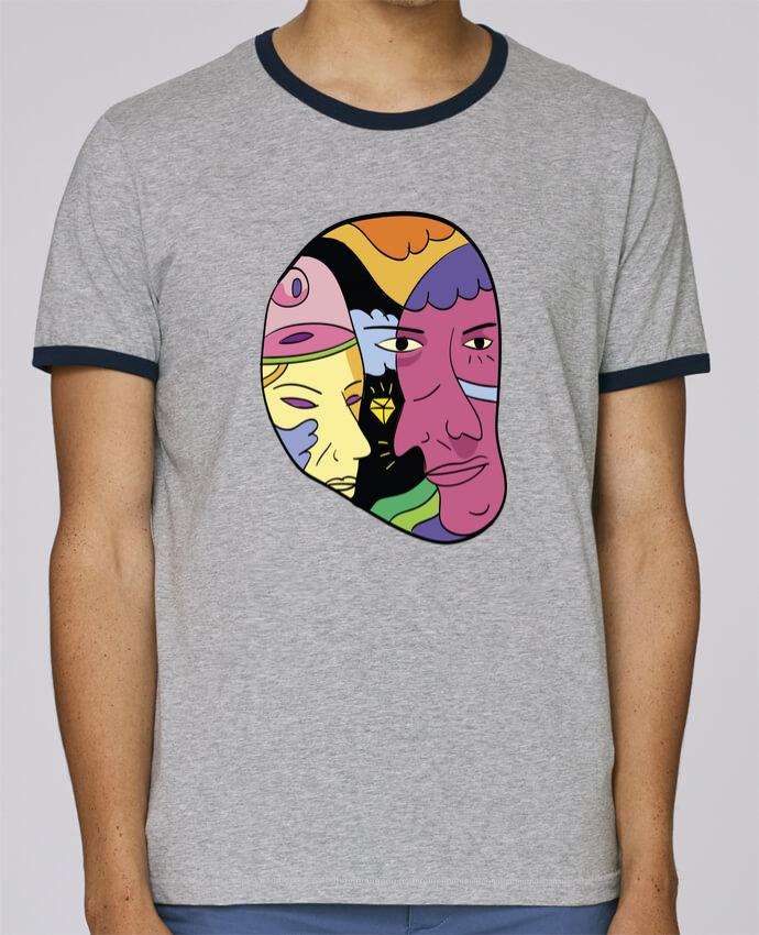 T-Shirt Ringer Contrasté Homme Stanley Holds destroyer pour femme par Arya Mularama