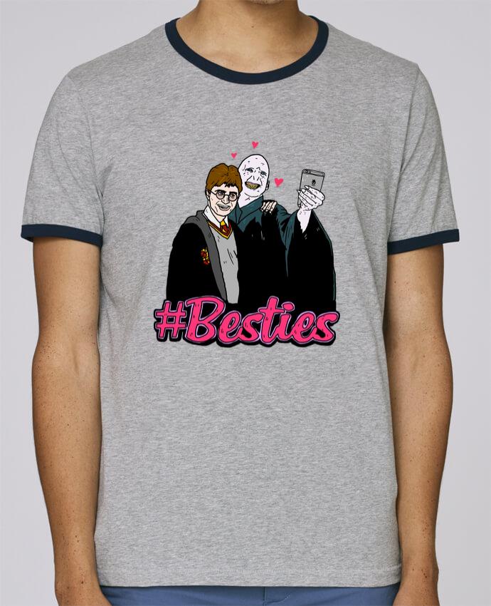 T-Shirt Ringer Contrasté Homme Stanley Holds Besties pour femme par Nick cocozza