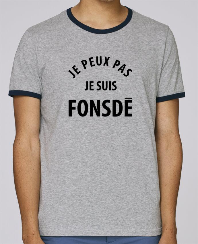 T-Shirt Ringer Contrasté Homme Stanley Holds Je peux pas je suis fonsde pour femme par Ruuud