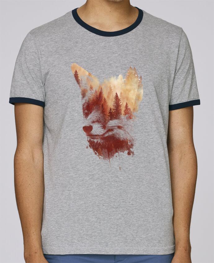 T-Shirt Ringer Contrasté Homme Stanley Holds Blind fox pour femme par robertfarkas