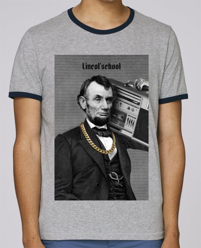 T-Shirt Ringer Contrasté Homme Stanley Holds Lincol'school pour femme par Ads Libitum