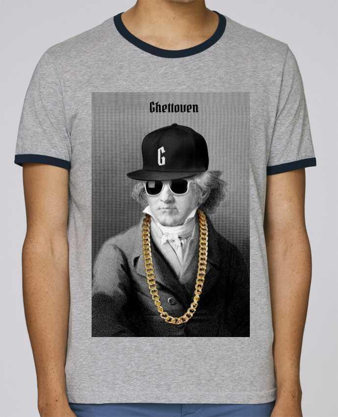T-Shirt Ringer Contrasté Homme Stanley Holds Ghettoven pour femme par Ads Libitum