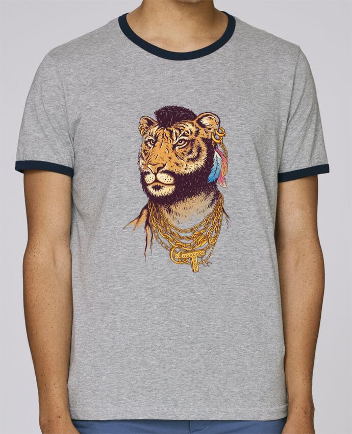 T-Shirt Ringer Contrasté Homme Stanley Holds Mr tiger pour femme par Enkel Dika