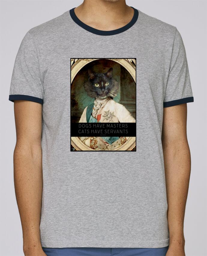 T-Shirt Ringer Contrasté Homme Stanley Holds King Cat pour femme par Tchernobayle