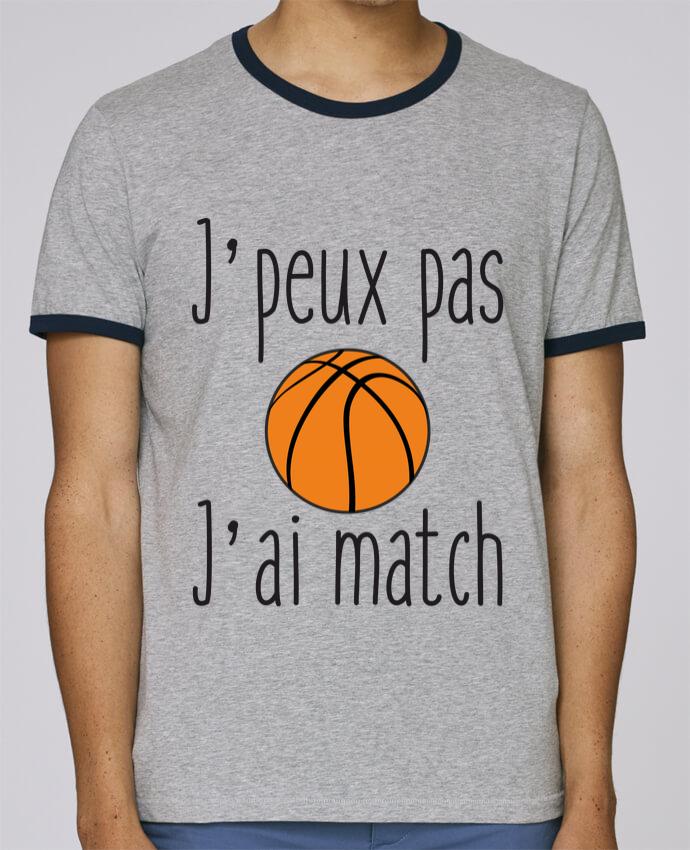T-Shirt Ringer Contrasté Homme Stanley Holds J'peux pas j'ai match de basket pour femme par Benichan