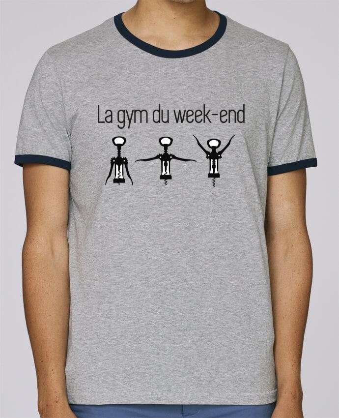T-Shirt Ringer Contrasté Homme Stanley Holds La gym du week-end pour femme par Benichan