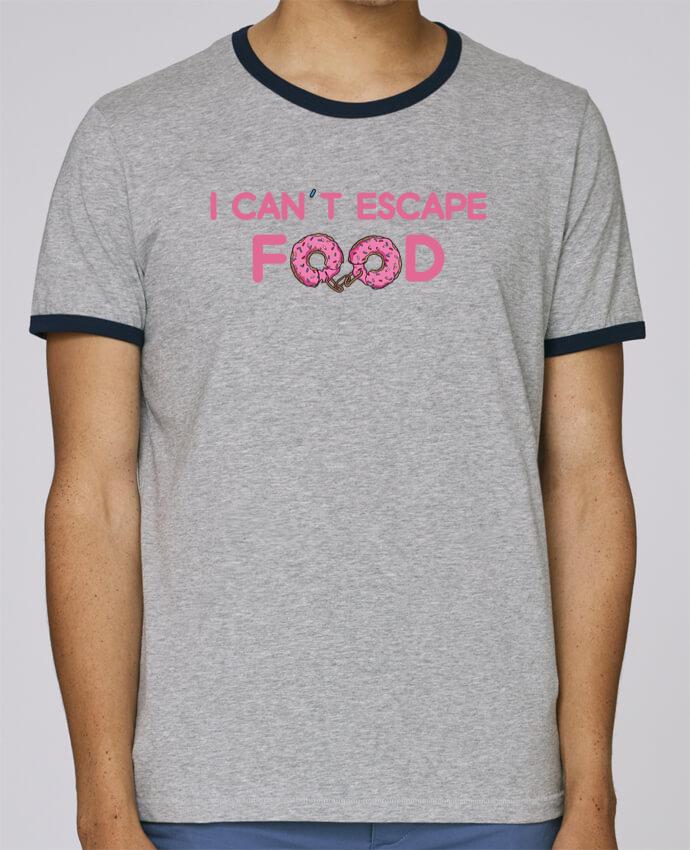 T-Shirt Ringer Contrasté Homme Stanley Holds I can't escape food pour femme par tunetoo