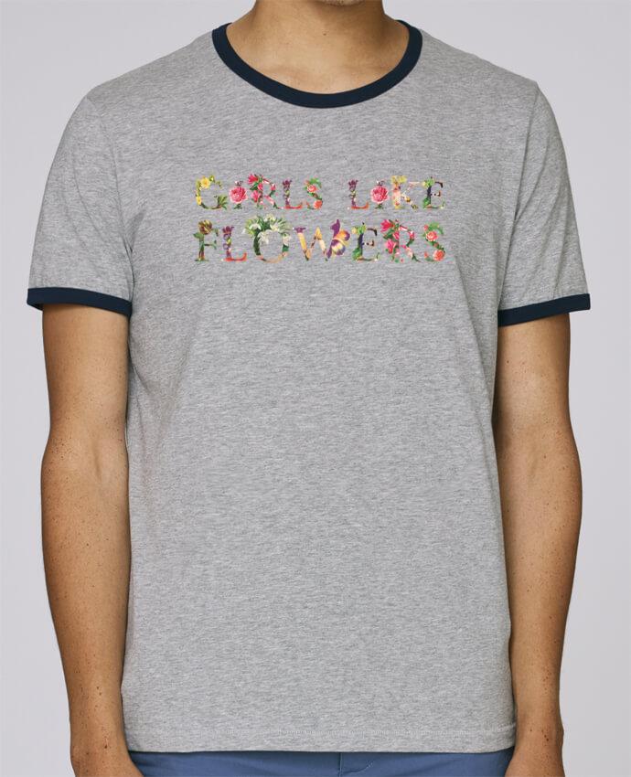T-Shirt Ringer Contrasté Homme Stanley Holds Girls like flowers pour femme par tunetoo