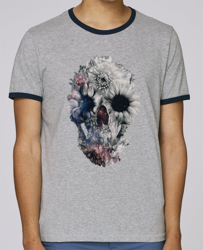 T-Shirt Ringer Contrasté Homme Stanley Holds Floral skull 2 pour femme par ali_gulec