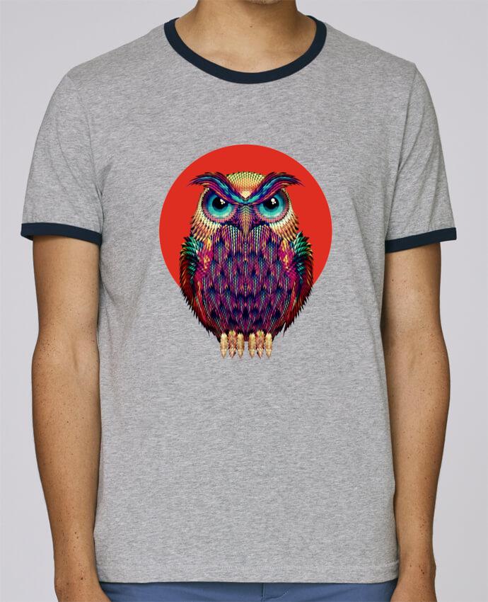 T-Shirt Ringer Contrasté Homme Stanley Holds Owl pour femme par ali_gulec