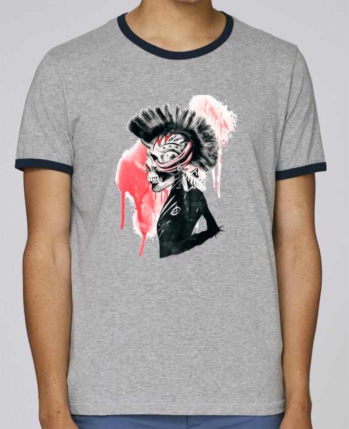 T-Shirt Ringer Contrasté Homme Stanley Holds Punk pour femme par ali_gulec