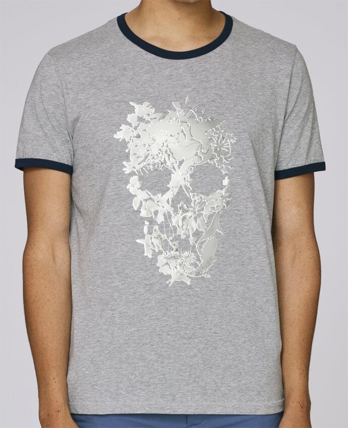 T-Shirt Ringer Contrasté Homme Stanley Holds Simple Skull pour femme par ali_gulec
