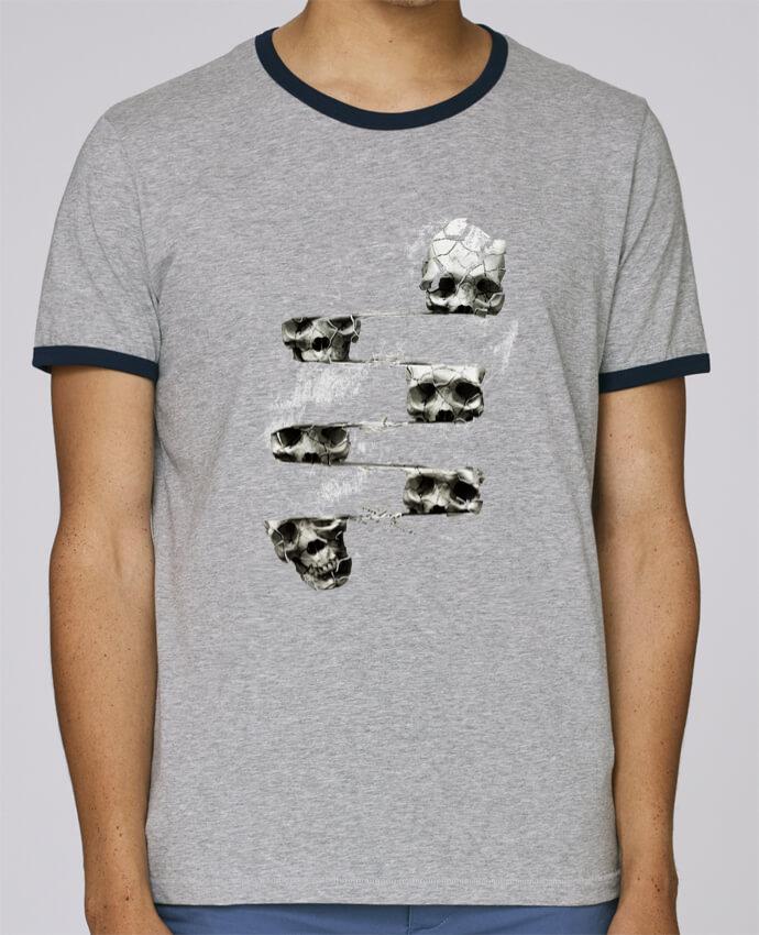 T-Shirt Ringer Contrasté Homme Stanley Holds Skull 3 pour femme par ali_gulec
