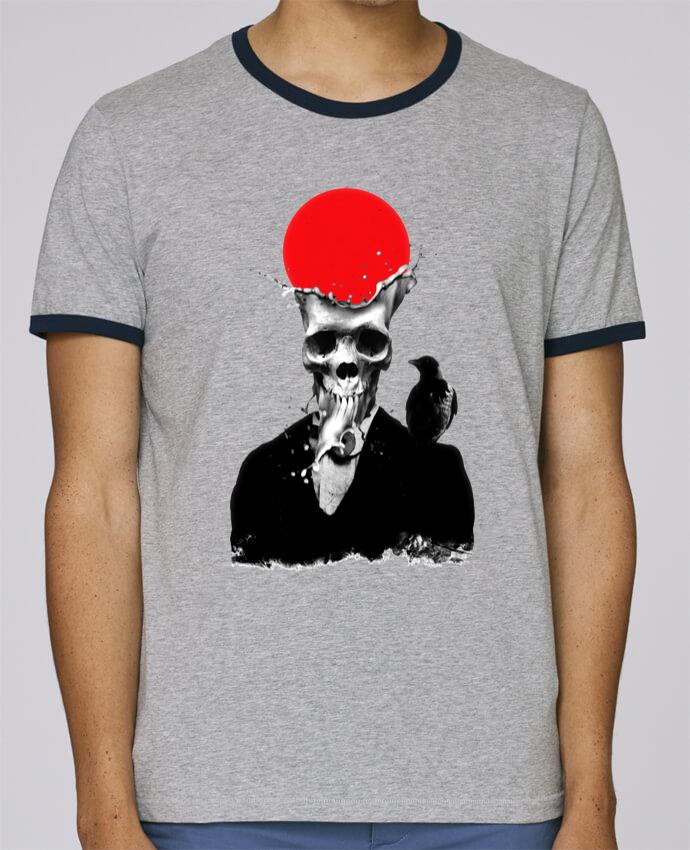 T-Shirt Ringer Contrasté Homme Stanley Holds Splash skull pour femme par ali_gulec