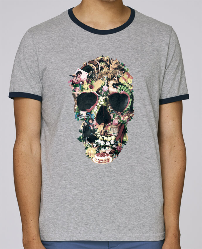 T-Shirt Ringer Contrasté Homme Stanley Holds Vintage Skull pour femme par ali_gulec
