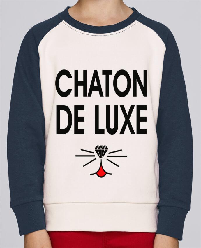 Sweat Shirt Col Rond Enfant Stanley Mini Contrast Chaton de luxe par tunetoo