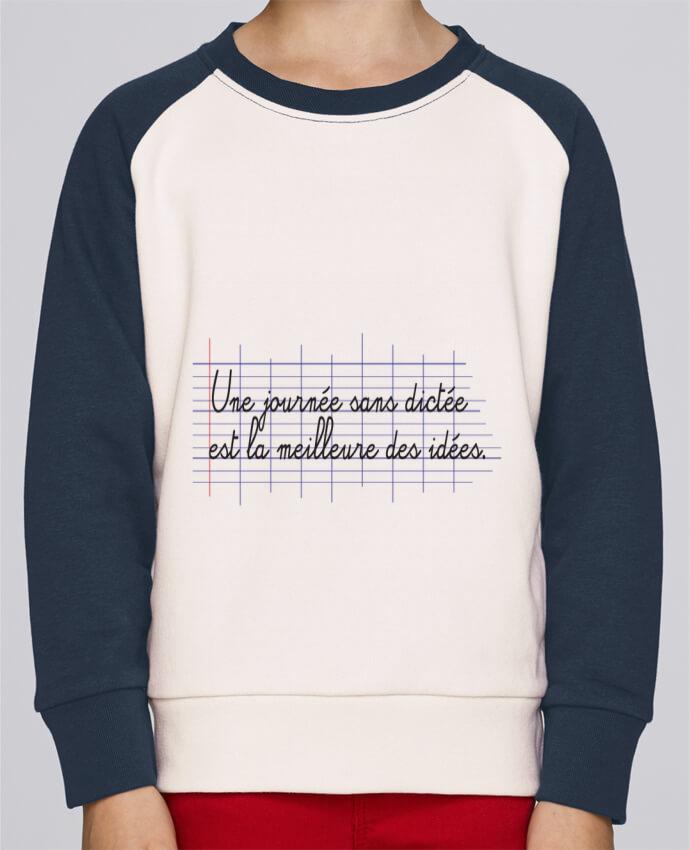Sweat Shirt Col Rond Enfant Stanley Mini Contrast Une journée sans dictée par tunetoo