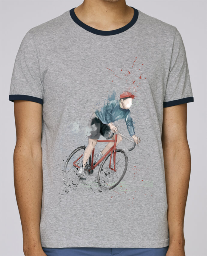 T-Shirt Ringer Contrasté Homme Stanley Holds I want to Ride pour femme par Balàzs Solti