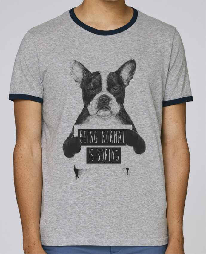 T-Shirt Ringer Contrasté Homme Stanley Holds Being normal is boring pour femme par Balàzs Solti