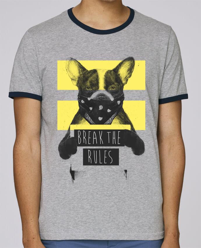 T-Shirt Ringer Contrasté Homme Stanley Holds rebel_dog_yellow pour femme par Balàzs Solti