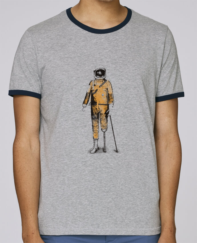 T-Shirt Ringer Contrasté Homme Stanley Holds Astropirate pour femme par Florent Bodart