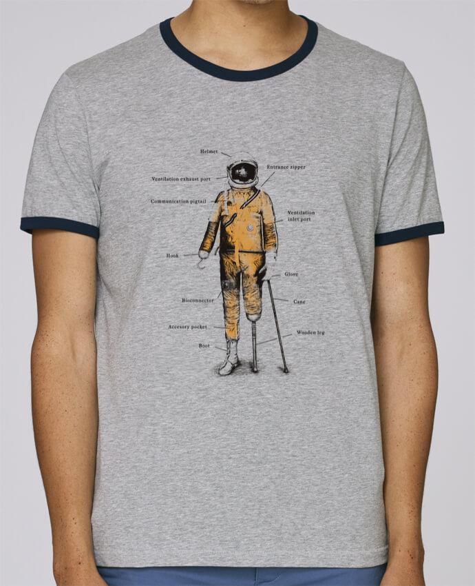 T-Shirt Ringer Contrasté Homme Stanley Holds Astropirate with text pour femme par Florent Bodart