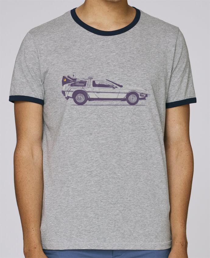 T-Shirt Ringer Contrasté Homme Stanley Holds Dolorean pour femme par Florent Bodart