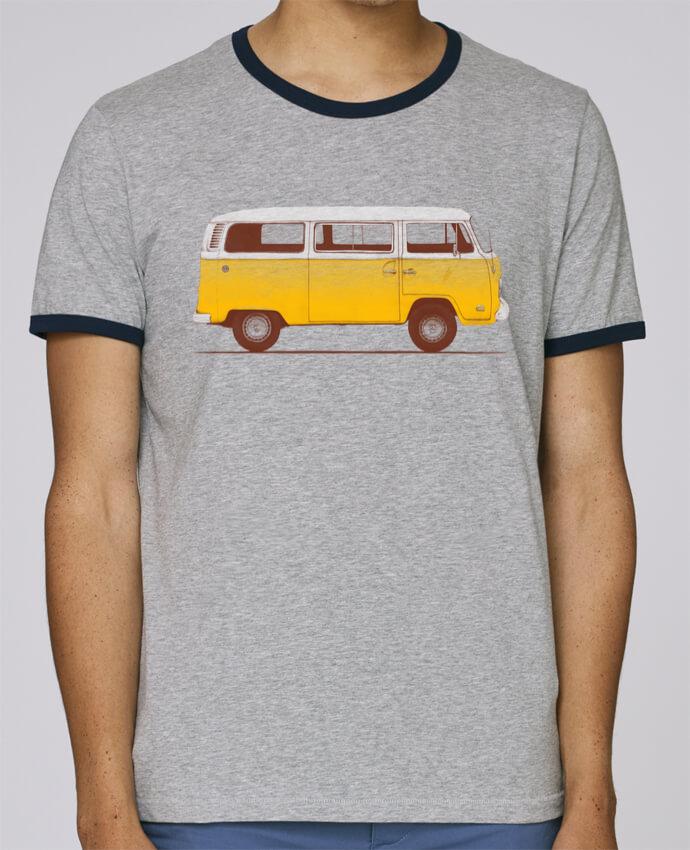 T-Shirt Ringer Contrasté Homme Stanley Holds Yellow Van pour femme par Florent Bodart