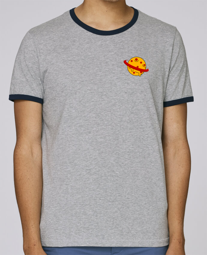 T-Shirt Ringer Contrasté Homme Stanley Holds Planète Pizza pour femme par WBang
