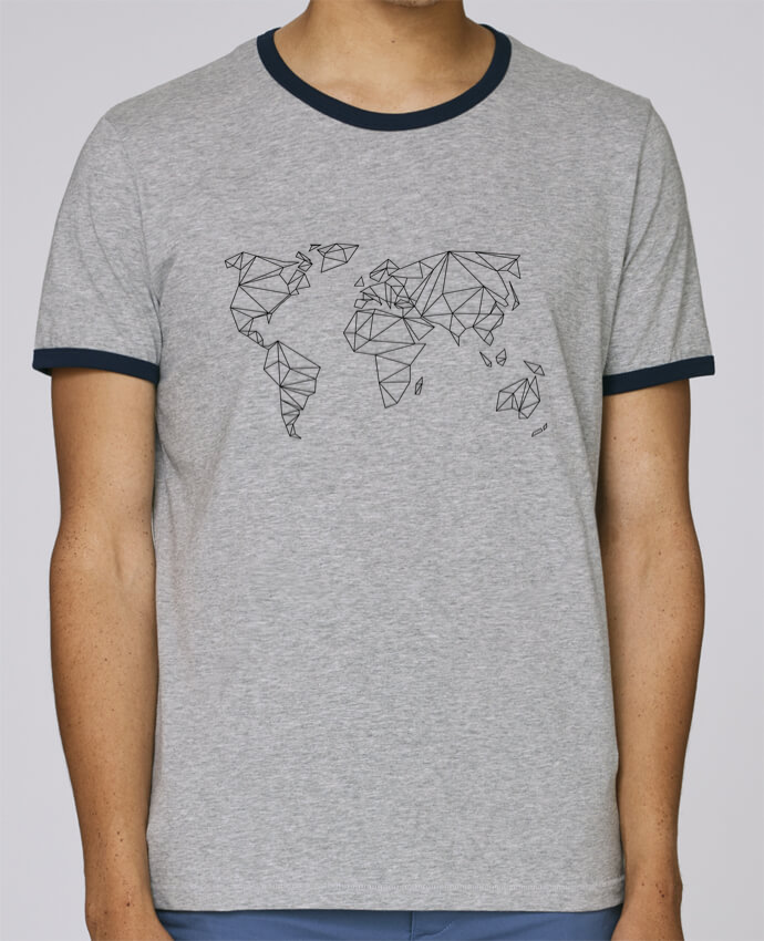 T-Shirt Ringer Contrasté Homme Stanley Holds Geometrical World pour femme par na.hili