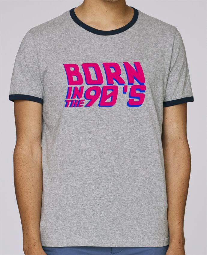 T-Shirt Ringer Contrasté Homme Stanley Holds Born in the 90's pour femme par tunetoo