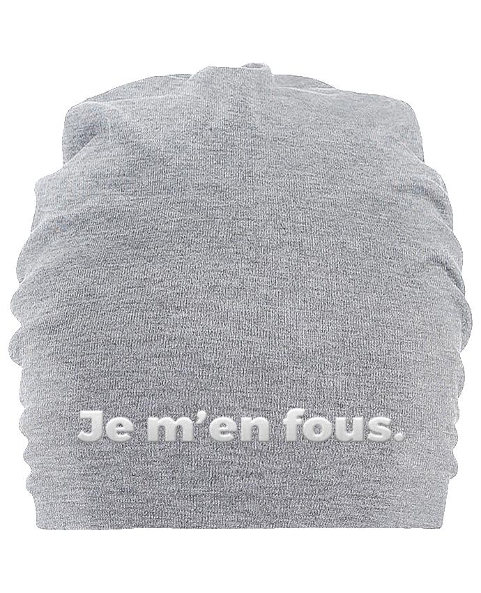 Bonnet oversize en coton Hemsedal Je m\'en fous. par tunetoo