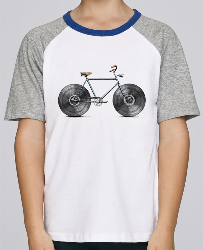 Tee-Shirt Enfant Stanley Mini Jump Short Sleeve Velophone par Florent Bodart