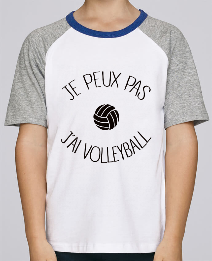 Tee-Shirt Enfant Stanley Mini Jump Short Sleeve Je peux pas j'ai volleyball par Freeyourshirt.com