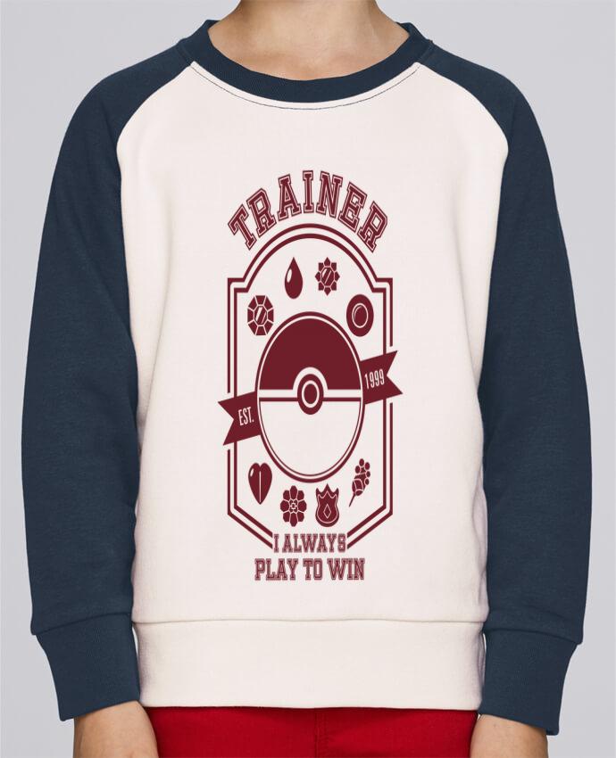 Sweat Shirt Col Rond Enfant Stanley Mini Contrast Trainer since 1999 par Kempo24