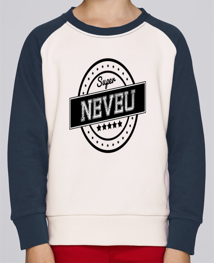 Sweat Shirt Col Rond Enfant Stanley Mini Contrast Super neveu par justsayin