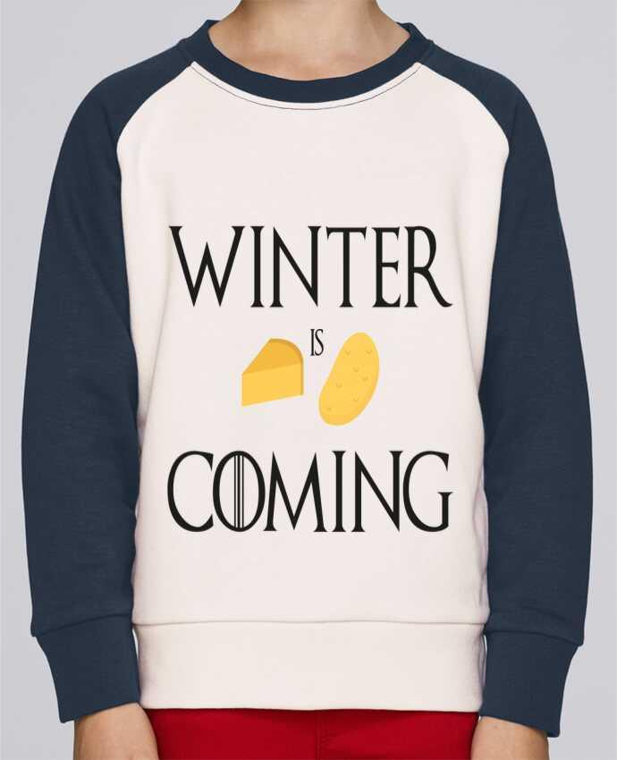 Sweat Shirt Col Rond Enfant Stanley Mini Contrast Winter is coming par Ruuud