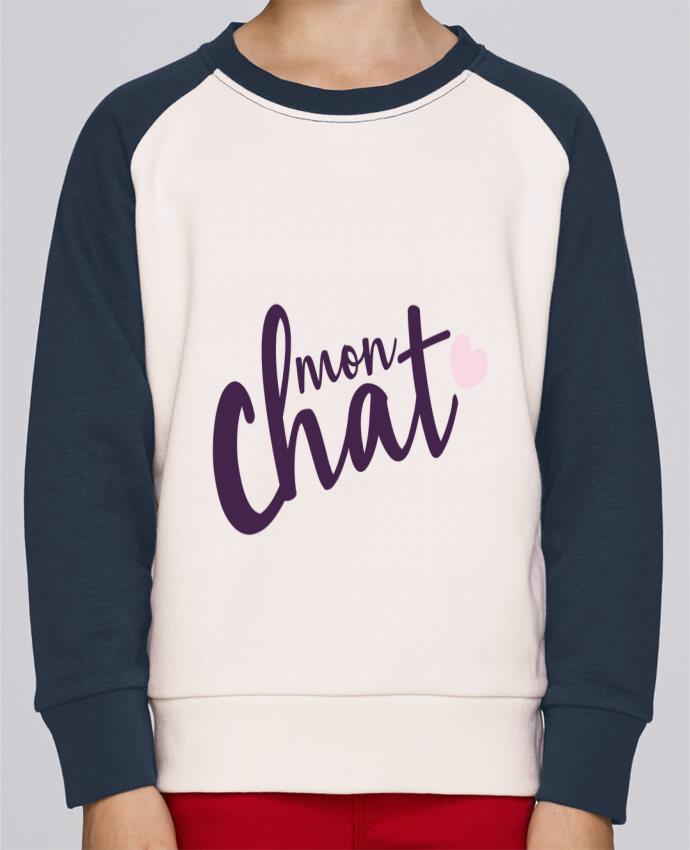 Sweat Shirt Col Rond Enfant Stanley Mini Contrast Mon Chat par Nana