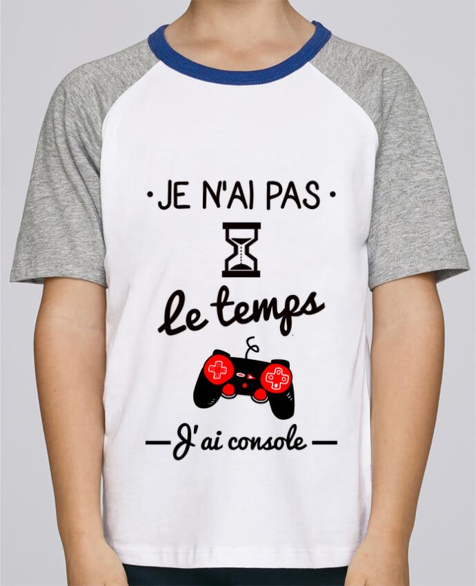 Tee-Shirt Enfant Stanley Mini Jump Short Sleeve Pas le temps, j'ai console, tee shirt geek,gamer par Benichan