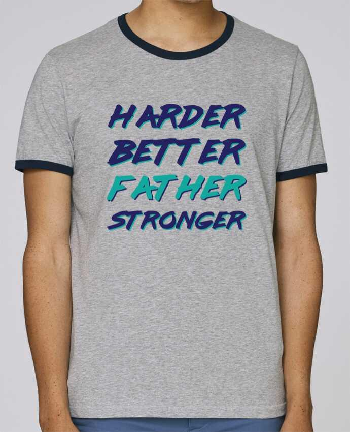 T-Shirt Ringer Contrasté Homme Stanley Holds Harder Better Father Stronger pour femme par tunetoo