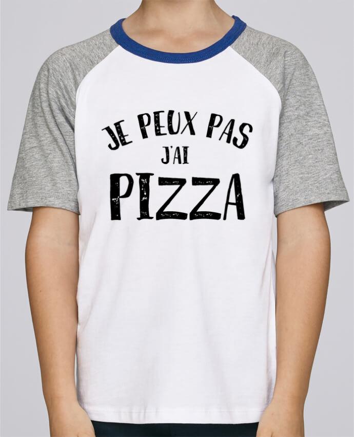 Tee-Shirt Enfant Stanley Mini Jump Short Sleeve Je peux pas j'ai Pizza par L'Homme Sandwich