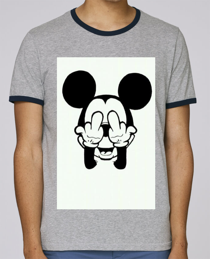 T-Shirt Ringer Contrasté Homme Stanley Holds Vetement mickey doigt d