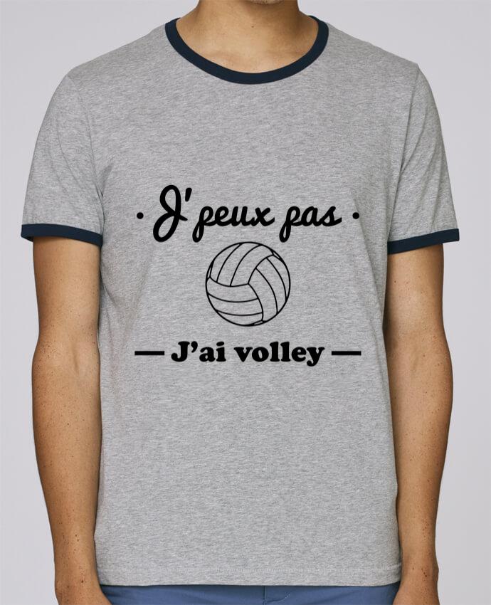 T-Shirt Ringer Contrasté Homme Stanley Holds J'peux pas j'ai volley , volleyball, volley-ball pour femme par Benichan
