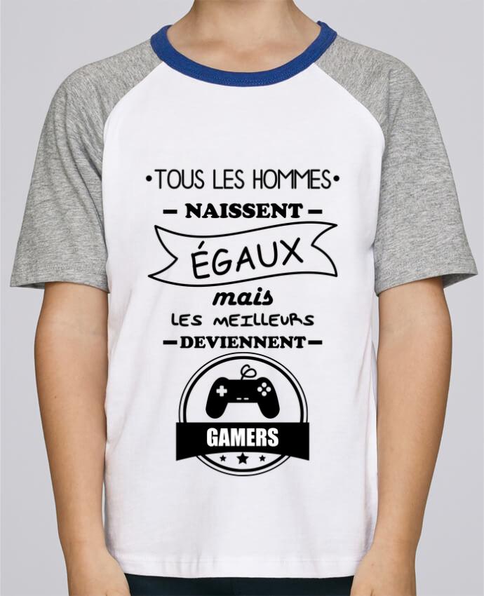 Tee-Shirt Enfant Stanley Mini Jump Short Sleeve Tous les hommes naissent égaux mais les meilleurs deviennent gamers, joueurs