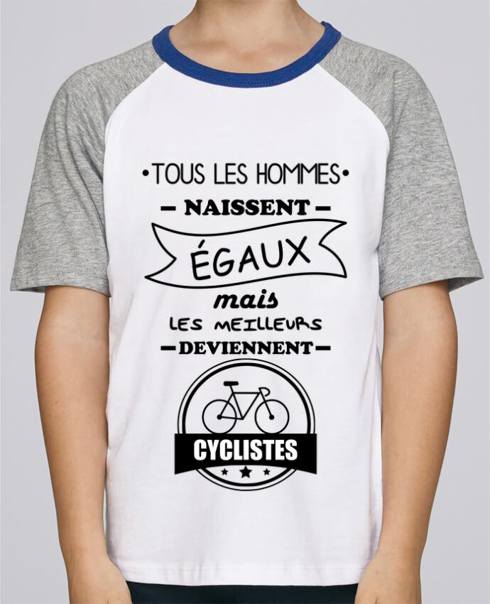 Tee-Shirt Enfant Stanley Mini Jump Short Sleeve Tous les hommes naissent égaux mais les meilleurs deviennent cyclistes, cycl