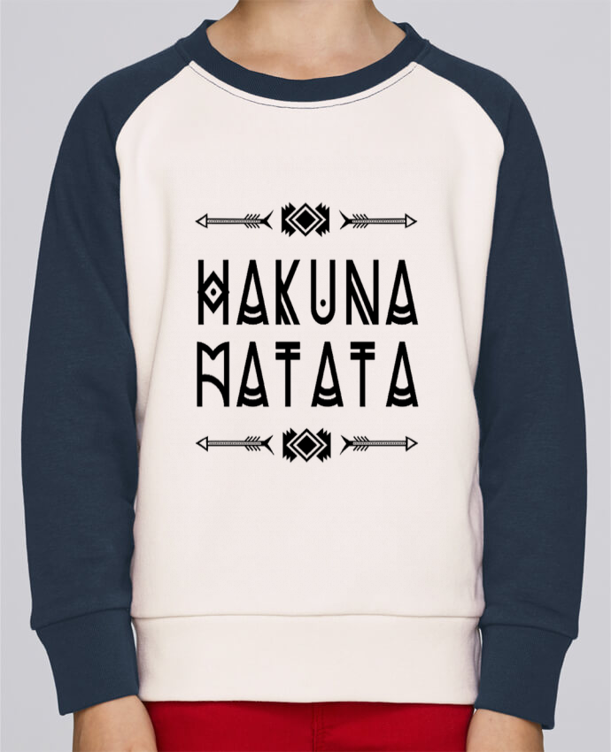 Sweat Shirt Col Rond Enfant Stanley Mini Contrast hakuna matata par DesignMe