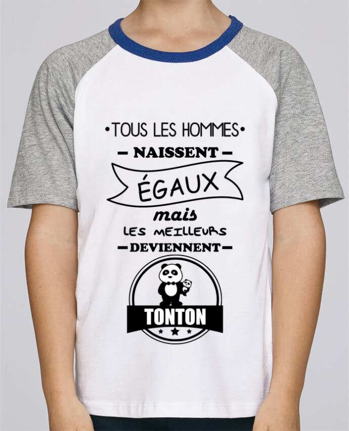 Tee-Shirt Enfant Stanley Mini Jump Short Sleeve Tous les hommes naissent égaux mais les meilleurs deviennent tonton, tontons