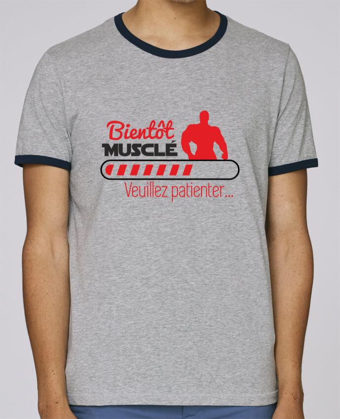 T-Shirt Ringer Contrasté Homme Stanley Holds Bientôt musclé, musculation, muscu, humour pour femme par Benichan